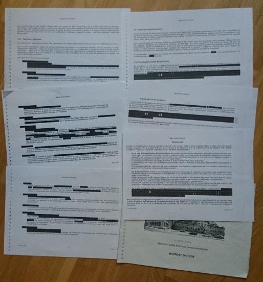 La version de l'étude de de 2010, de 13 pages à 25 000 euros, remise en 2015 (photo collectif la Victoire pour tous)