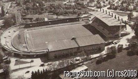 La nouvelle tribune inaugurée en 1951 (Doc. Racingstub)