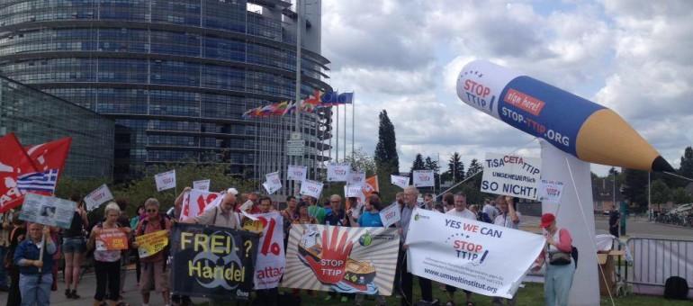 Mobilisation contre le traité de libre-échange samedi à Strasbourg