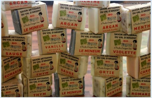 Les savons 100% biologiques Argasol se déclinent en nombreux parfums originaux (Photo LH)