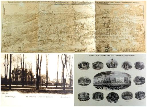 """Le parc du Contades est ainsi nommé à partir du XVIIIème siècle. Avant, c'est un champ d'entrainement pour arquebusiers puis une """"promenade pour citadins (Archives Strasbourg)"""