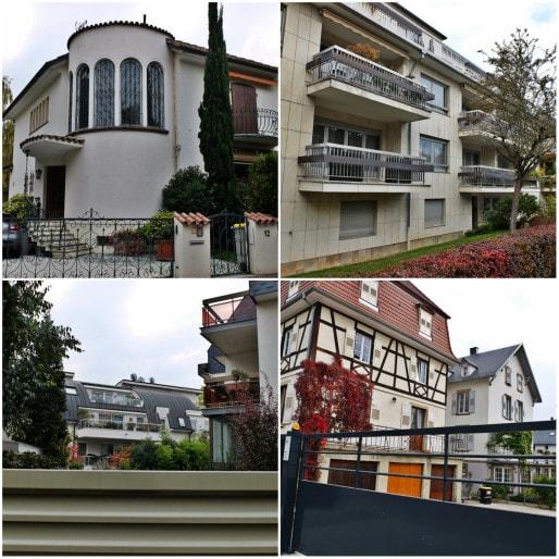 Eclectisme architectural sur l'île Sainte-hélène, quartier calme et bourgeois à deux pas du parc du Contades (Photos MM / Rue89 Strasbourg)