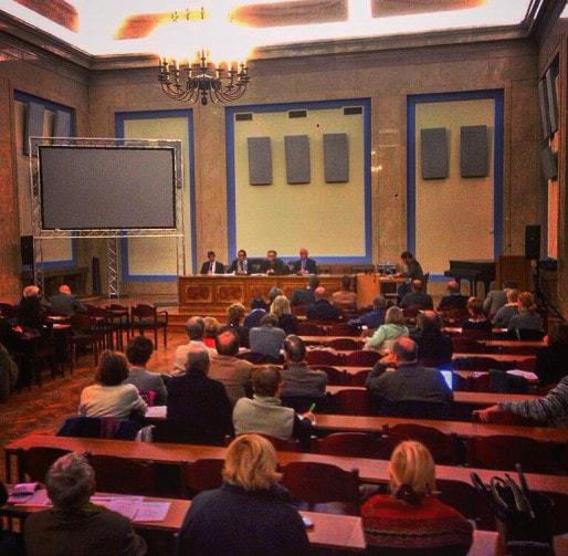 Les participants ont beaucoup défendu les choix de la municipalité sur la rénovation des bains municipaux. (photo JFG / Rue89 Strasbourg)