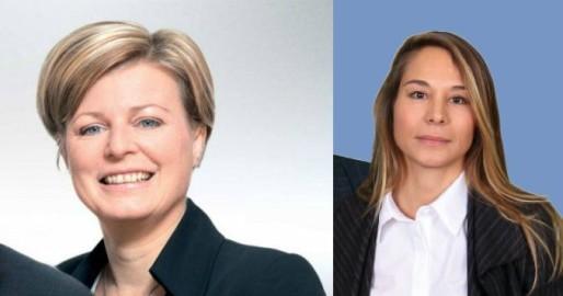 Hombeline du Parc (à gauche) et Virginie Joron (à droite), les deux têtes de listes du FN en Alsace (document de campagne)