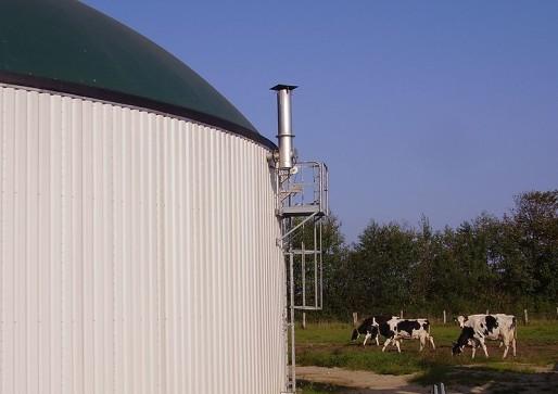 Une usine de méthanisation en Allemagne (Photo Wikimedia Commons / cc)