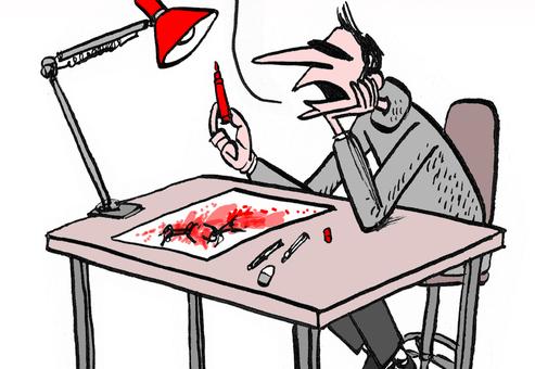 Avant Noël, les dessinateurs aimeraient utiliser leur feutre rouge autrement