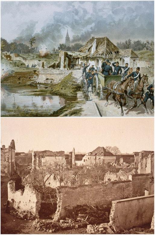 1870, après le siège de Strasbourg, la citadelle est en partie démolie (Wikiwand)