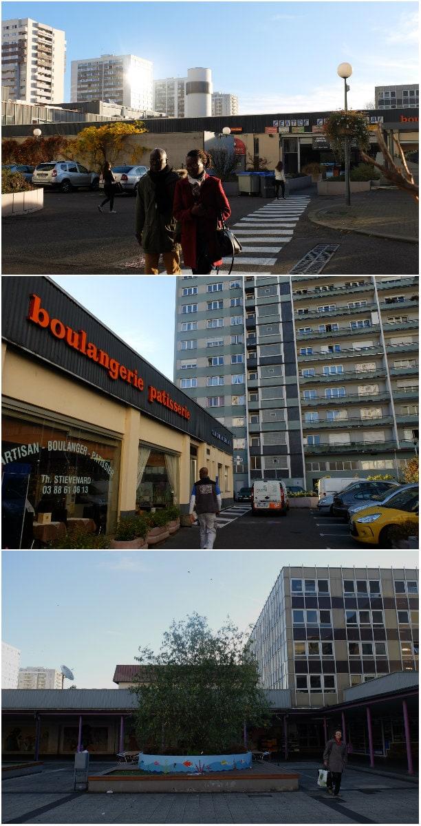 Esplanade quand les tours ont remplac les casernes - Centre commercial rivetoile strasbourg ...