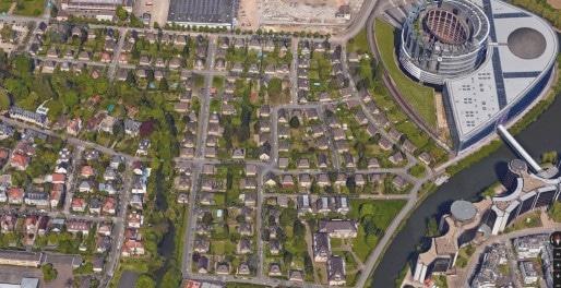 La cité Ungemach, un emplacement de choix pour des pavillons très agréables (Photo Google Maps)