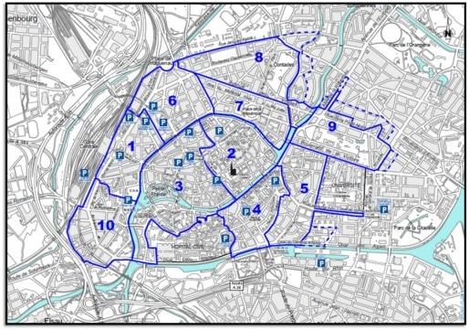 Les résidents titulaires d'un abonnement de parking sur les zones 2 et 3 vont pouvoir demander un accès à une autre zone. (doc EMS)