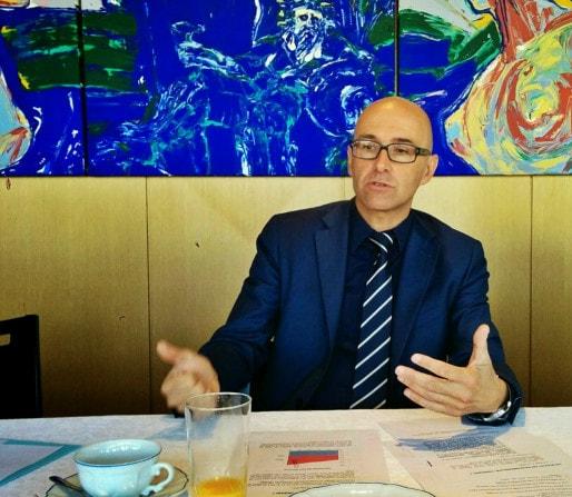 Frédéric Bierry, président du conseil départemental du Bas-Rhin depuis mars (Photo PF / Rue89 Strasbourg)