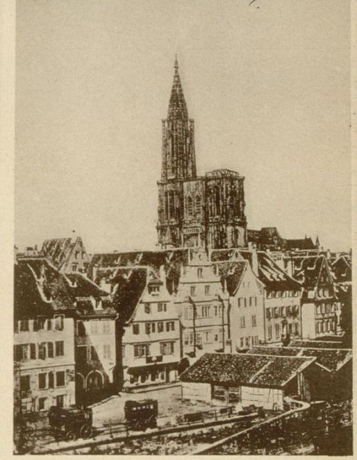 Hangars à diligences rue de la Douane, 1865 (Carte postale Archi-Strasbourg)