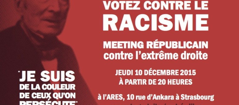 Meeting «républicain» avec Roland Ries, contre le FN, jeudi à Strasbourg
