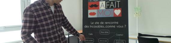 """""""Le principe se base sur l'autodérision pour dédramatiser la drague"""". ( photo : AF/Rue89 Strasbourg/cc)."""
