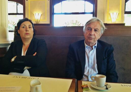 La tête de liste bas-rhinoise Pernelle Richardot et la tête de liste régionale Jean-Pierre Masseret arriveront-ils à s'entendre ? (photo PF / Rue89 Strasbourg)