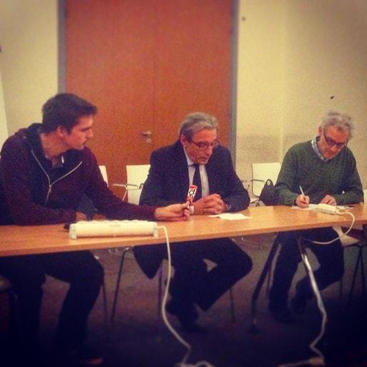 Le maire PS de Strasbourg Roland Ries souhaite que Jean-Pierre Masseret retire sa liste pour éviter que le FN dirige la future grande région. (photo JFG / Rue89 Strasbourg)