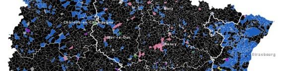 La carte de l'ALCA après les résultats des élections régionales.
