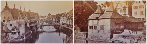 """Les grues de l'Ancienne douane - source : Roger Forst """"Il était une fois Strasbourg"""" (Photos MM)"""