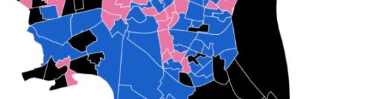 résultats des bureaux de votes à Strasbourg (carte Raphaël Da Silva)