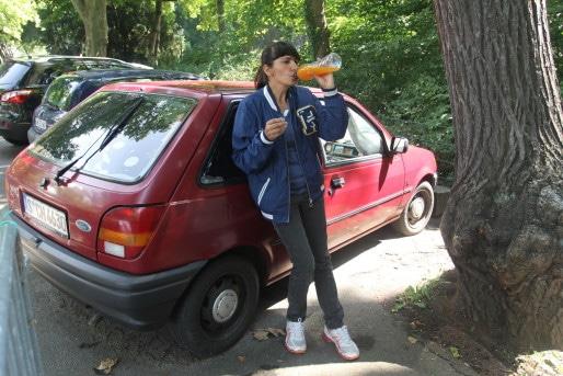 Nazijla Ismail habite dans sa voiture depuis octobre 2010. (AF/Rue89Strasbourg)