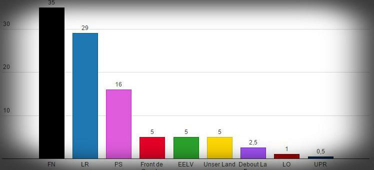 Régionales : un deuxième sondage donne le FN en tête en ALCA