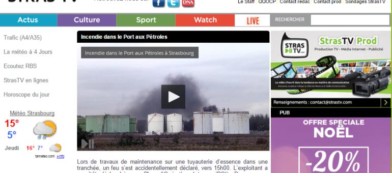 Incendie au port aux pétroles de Strasbourg