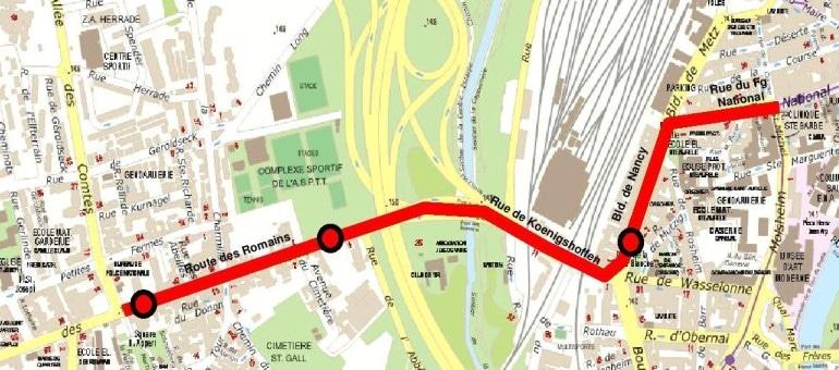 Tramway : prolongation à la Robertsau, amorce vers Koenigshoffen