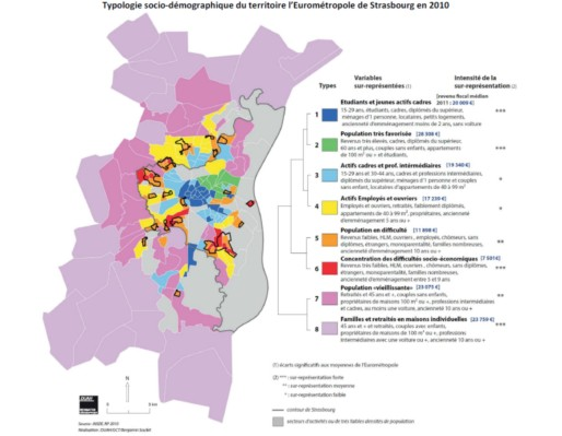 La diversité socio-démographique est également présente. (DUAH/GCT/B.Soulet/INSEE/Cadre du contrat de ville de l'eurométropole/cc).
