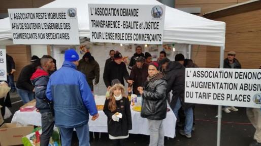 Depuis début janvier, l'ACNSS se fait entendre tous les samedis au marché de Hautepierre (Document remis)