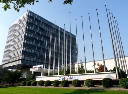 Le siège du Crédit Mutuel au Wacken à Strasbourg (Photo Wikimedia Commons / cc)