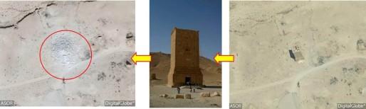 Le 4 septembre dernier, l'APSA rapportait la destruction par l'Etat islamique des célèbres tombeaux d'Elahbel, à Palmyre. (Document remis)
