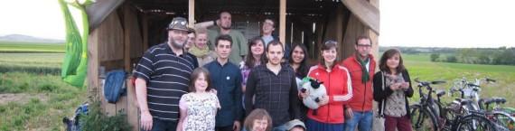 Occupation de l'une des cabanes anti-GCO par les jeunes écologistes (Photo Jeunes écologistes d'Alsace / Facebook)