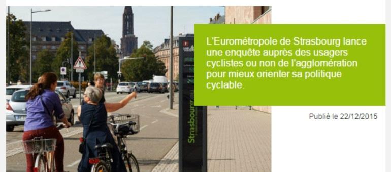 On demande l'avis, positif, des Strasbourgeois sur leurs pistes cyclables