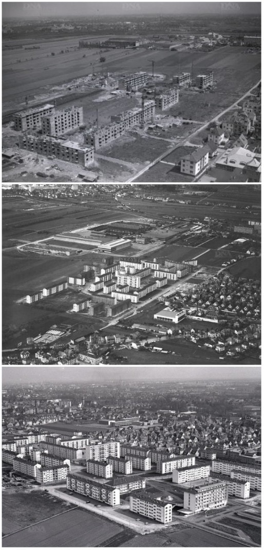 Cité du Hohberg en 1962, 1963 et 1970 (Photos Archives DNA, citées par ArchiWiki)