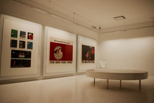La première salle de l'exposition Fit To Print. (Photo: Anaïs Engler)
