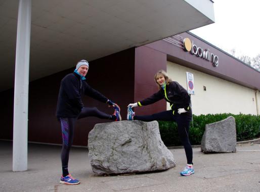 Première course pour Laurent et Nicole qui viennent de se rencontrer. (Photo: Anaïs Engler)