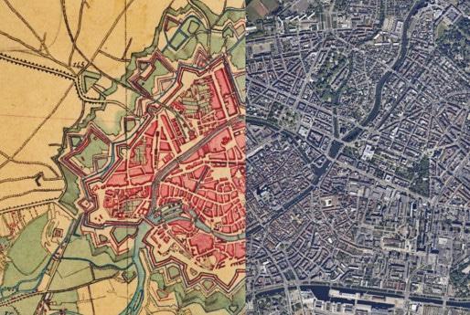 Une carte d'État major de 1820 et une photo aérienne de nos jours. (capture d'écran)