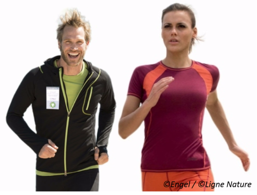 Ligne Nature commercialise les vêtements de sport de la marque engagée et écologique Engel à Strasbourg