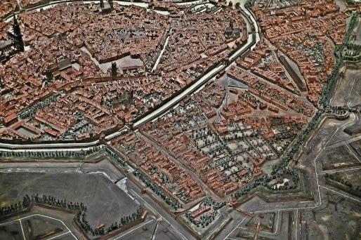 Plan relief de 1727 - Le secteur du Marais Vert est compris entre les rues du Faubourg-de-Pierre et du Faubourg-de-Saverne (Photo MM / Rue89 Strasbourg)