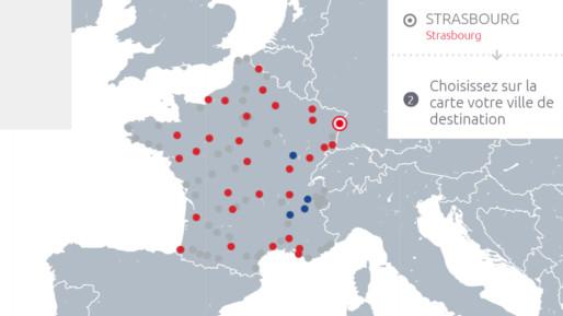 L'offre d'Isilines peut être couplée avec les destinations d'Eurolines, les lignes internationales (capture d'écran)