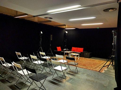Le salon où se tiendront nos rencontres et la conférence de rédaction ouverte. (Photo PF / Rue89 Strasbourg / cc)