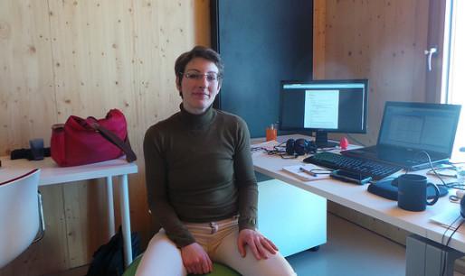 Laura Fort, fondatrice de studio pixmix avec son frère a remporté deux prix. (photo JFG / Rue89 Strasbourg)