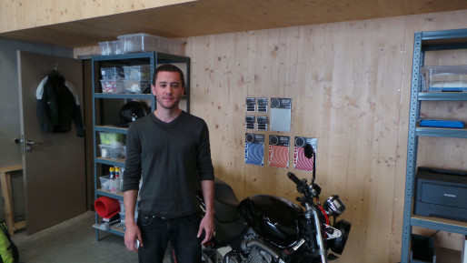 Victor Krummenacker dans son nouvel atelier (photo JFG / Rue89 Strasbourg)