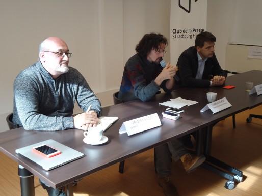 Conférence de presse autour du festival Premières au Club de la Presse, le 10 mars 2016 (Photo M. Bohner / Rue89 Strasbourg)