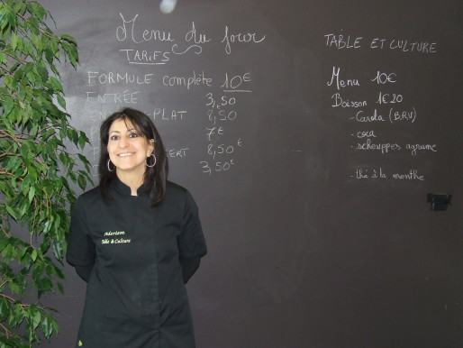 Meriem Chemlali, cofondatrice du restaurant associatif Table et culture de Hautepierre.