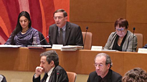 Robert Herrmann (PS), président de l'Eurométropole, ici en conseil municiapl (photo JFG / Rue89 Strasbourg)