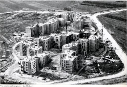 Construction de la cité de Hautepierre au tournant des années 1970 (DR)