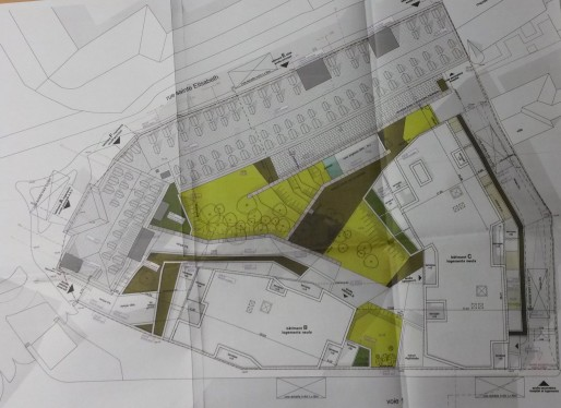 Le plan de rénovation et de construction du site des Diaconnesses. (Photo : CG / Rue89 Strasbourg / cc)