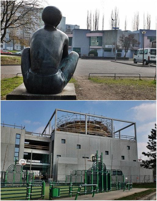 Maille Brigitte, où se construit la nouvelle mosquée de Hautepierre (Photos MM / Rue89 Strasbourg)