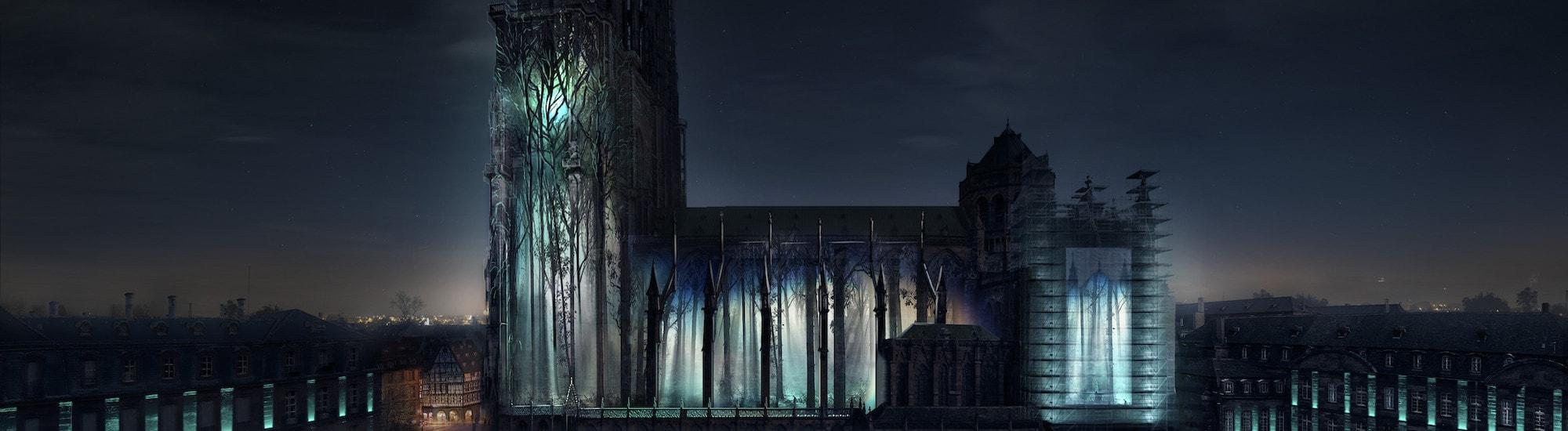 Une mise en lumière «intemporelle» de la cathédrale